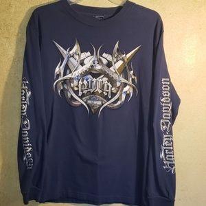 Harley Davidson Long Sleeve Shirt Approx Medium
